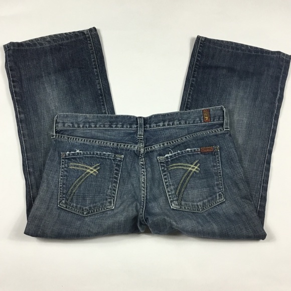 7 For All Mankind Denim - 74AM Cropped Dojo Jeans Womens Size 30